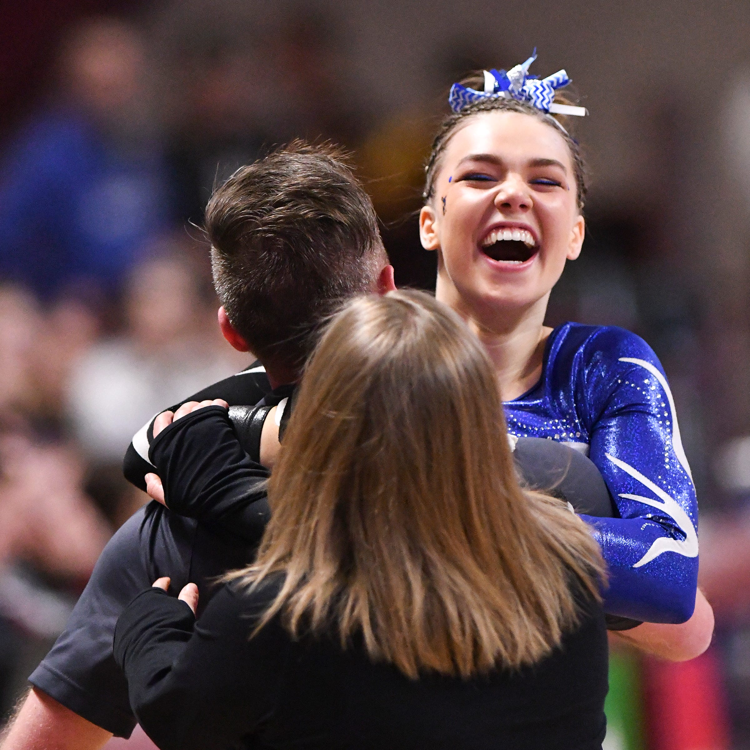 Father's ALS fight motivates Weber, who repeats as Times All-Area Gymnast of the Year