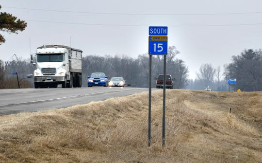 Traffic moves along Minnesota Highway 15 Friday, April 5,  south of Luxemburg. The highway will be under construction from St. Augusta to Kimball beginning April 29.