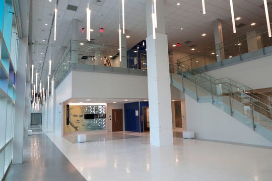 The lobby of the M.T. Mustian Center at Tallahassee Memorial Hospital Friday, April 5, 2019.
