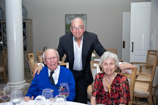 Dr. Thomas Gocke, left, with Dr. Thomas Lipin and Isla Mae Gocke at the Jupiter Medical Center's 40th anniversary celebration at Frenchman's Reserve in Palm Beach Gardens.