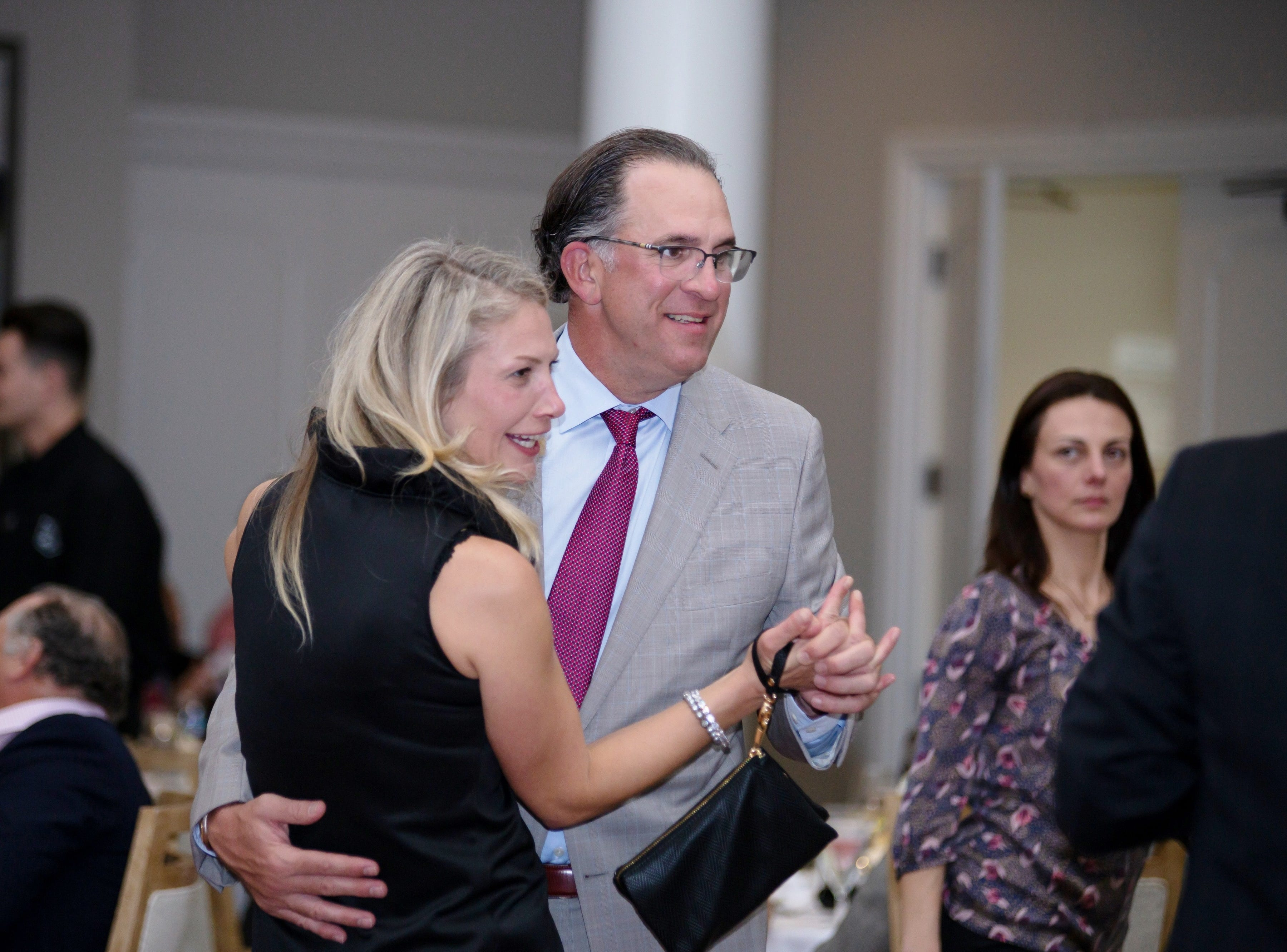 Anita and Dr. Jeffrey Miller share a dance at Jupiter Medical Center's 40th anniversary celebration at Frenchman's Reserve in Palm Beach Gardens.