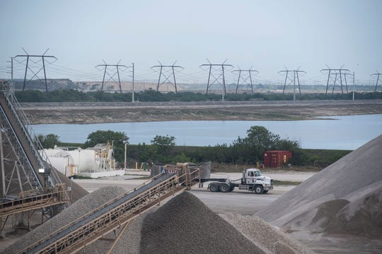 The C-51 Reservoir, a project proposed more than a decade ago, has been designed, planned and permitted in the area that is currently a rock pit at Palm Beach Aggregates, seen Monday, March 25, 2019 in Loxahatchee. The original plan called for the reservoir to hold excess water draining off the easternmost Everglades Agricultural Area and into the C-51 canal, keeping it out of the Lake Worth Lagoon, where it's not needed, and sending it to the Loxahatchee River, where it is needed. The project plans have now significantly changed, allowing the proposed reservoir to store Lake Okeechobee water and to supply water to municipal utilities in South Florida.