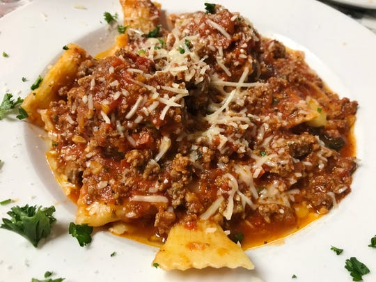 Lorenzo's Stuffed Rigatoni had soft, pillow-like pasta stuffed with cheese and covered with sauce.