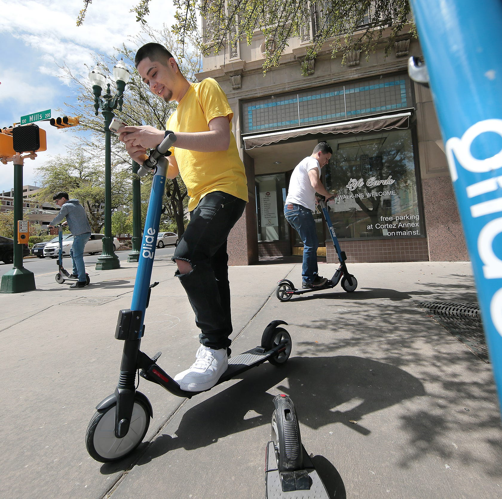 Electric scooters roll out in Downtown El Paso as part of pilot program