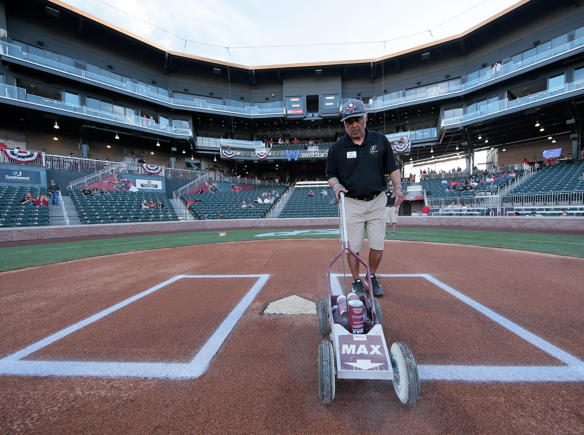 The El Paso Chihuahuas/Locomotive grounds crew pulls off a miracle and delivers baseball only days after a soccer game.