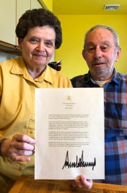 """The parents of a fallen U.S. Army Ranger, Diane and Ben Pilla of Vineland received a letter from President Donald Trump calling the dedication of the Sgt. Dominick Pilla Middle School  """"a momentous day."""""""
