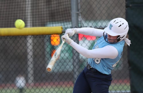 John Jay (EF) defeated Yorktown 17-0 in softball action at Yorktown High School April 4, 2019.