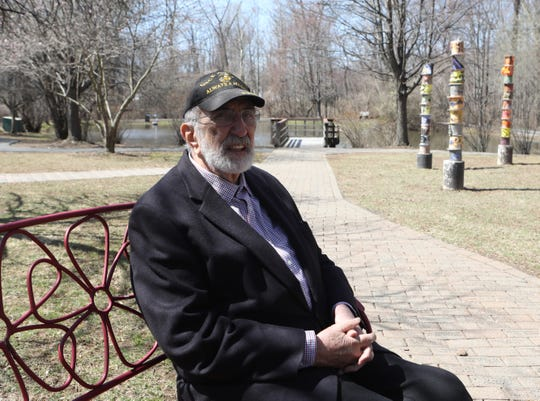 John Murphy championed independence for people with developmental disabilities and helped growing Rockland find room for group homes.  Murphy was photographed at the Pond of the 200,000 in Sparkill on April 4, 2019, which is a memorial to the pond where the ashes of developmentally disabled people killed by the Nazis were dumped at Auschwitz.