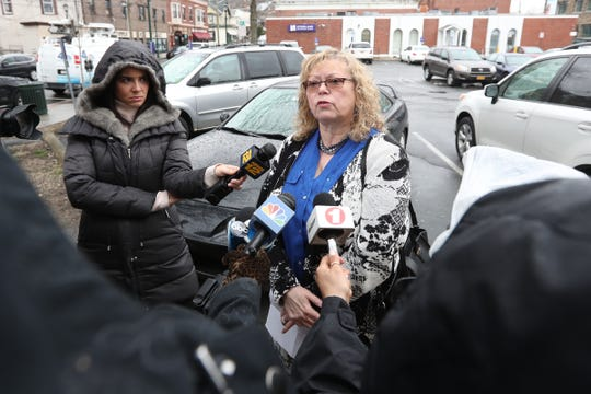 Commissioner of the County of Rockland, Dr. Patricia Schneabel Ruppert, updates the press about people who suffered from measles at the Nyack Hospital during the Cancer Vaccine Clinic (WMC) on April 5, 2019.