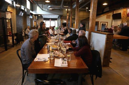 """Dinner with Jeanne"" at Hudson's Mill Tavern in Garnerville April 4, 2019."