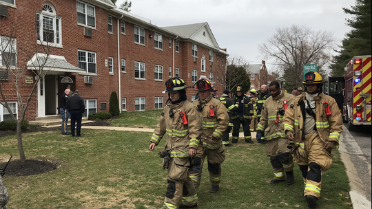 Fires inside a Pine Valley Apartments unit apparently were set intentionally Friday afternoon, according to the chief of the Wilmington Manor Fire Company.