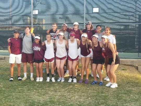 The Vernon boys and girls tennis teams finished with the most points at the District 6-4A Tournament.