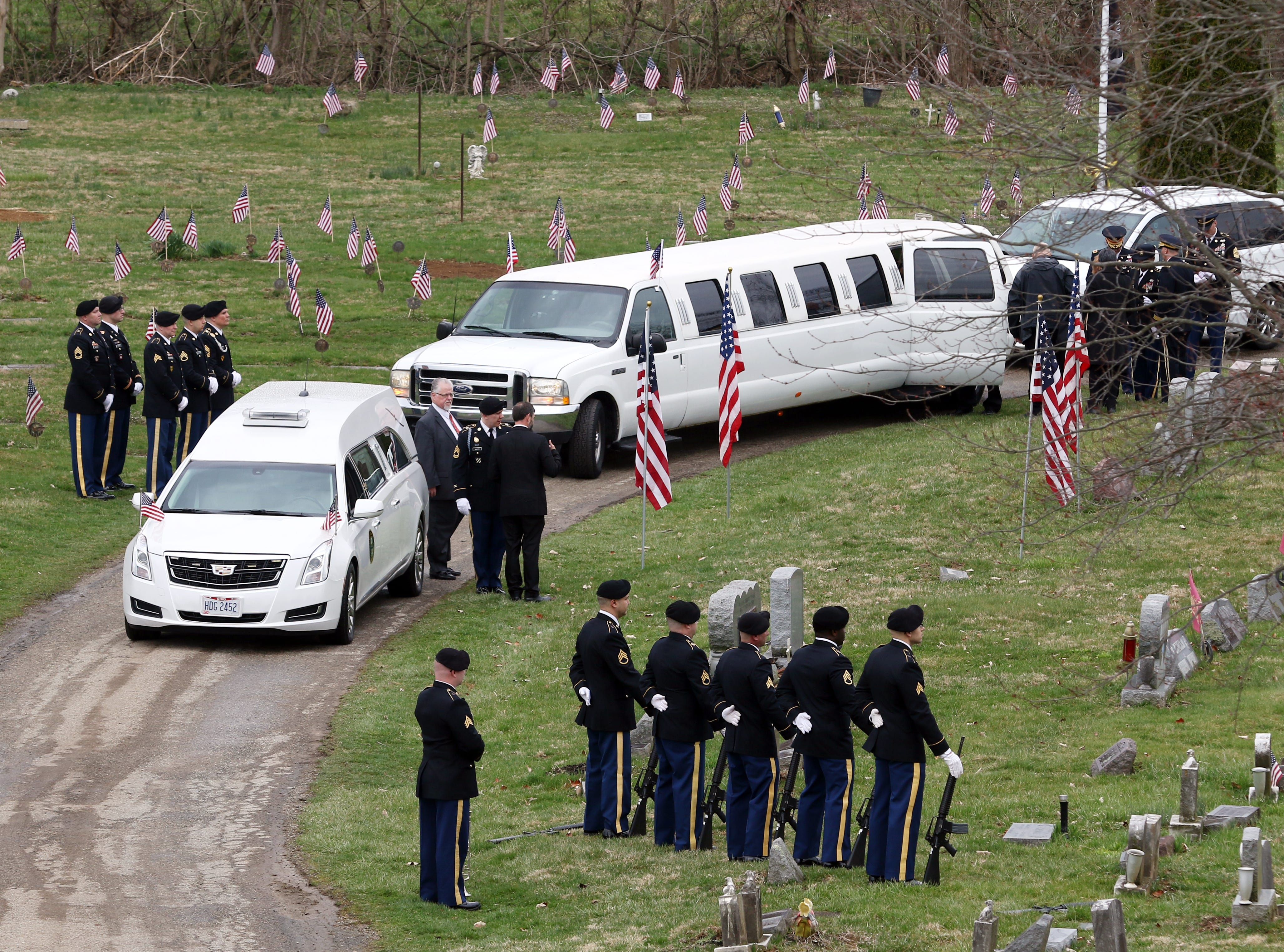U.S. Army Sgt. Joseph Collette was laid to rest at Maple Grove Cemetary in Lancaster on Friday.