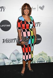 Television journalist Gayle King attends Variety's Power of Women: New York presented by Lifetime at Cipriani 42nd Street on Friday, April 5, 2019, in New York. (Photo by Evan Agostini/Invision/AP) ORG XMIT: NYEA104