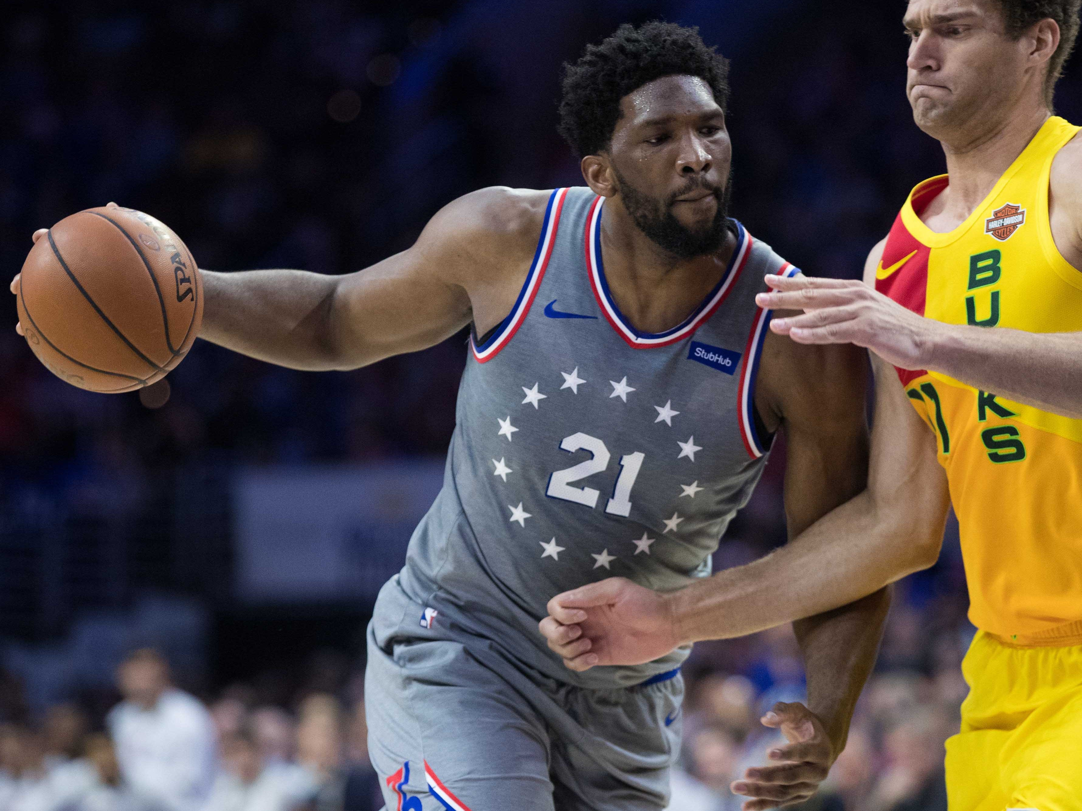 118. Joel Embiid, 76ers (April 4): 34 points, 13 rebounds, 13 assists in 128-122 loss to Bucks (second of season).