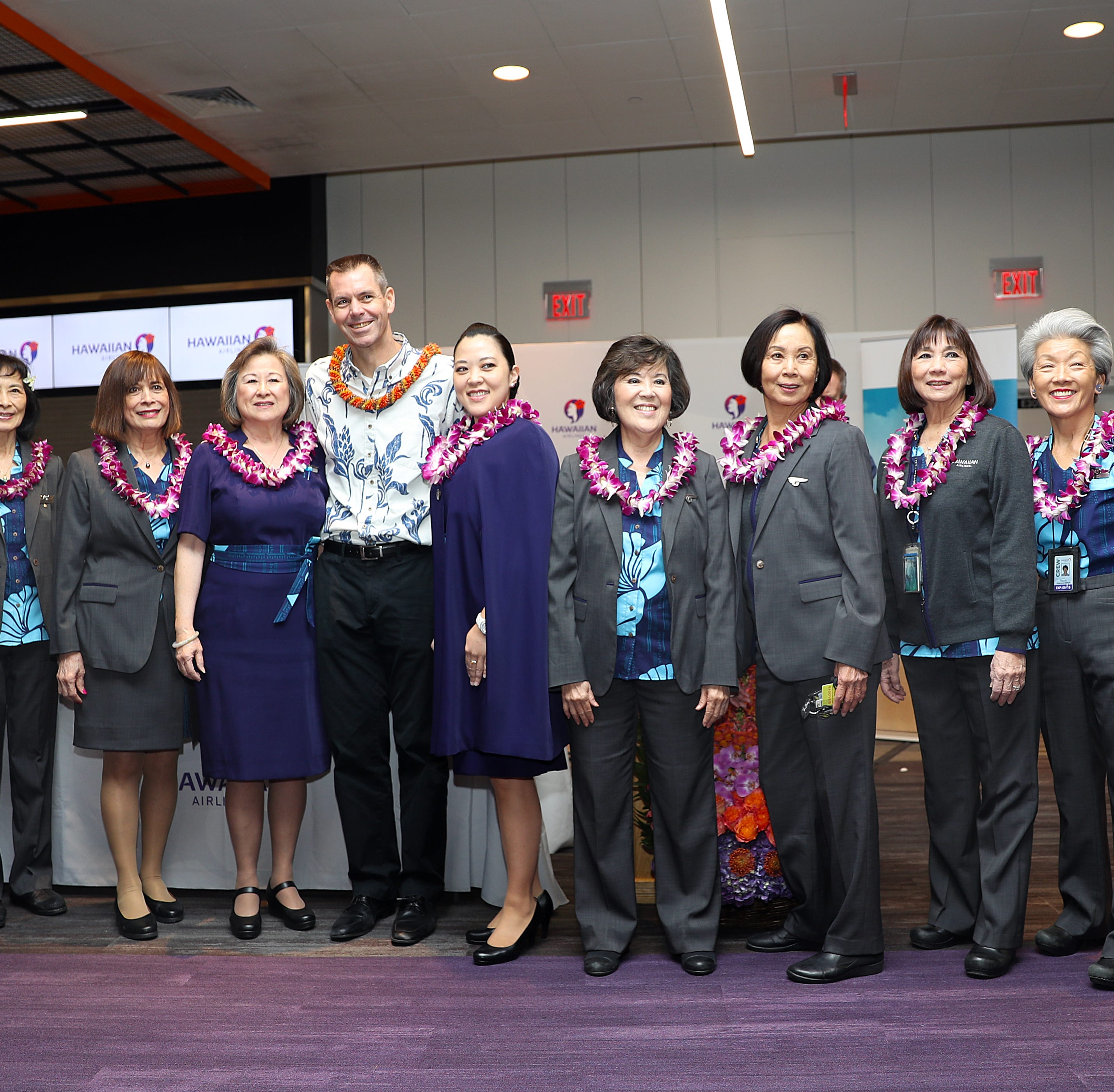 Client:  Hawaiian Airlines Hawaiian Airlines' launch of nonstop service between Boston and Honolulu will shower the Hub with aloha. A celebration of Hawaiian Airlines inaugural flight from Honolulu to Boston on 4/5/2019.