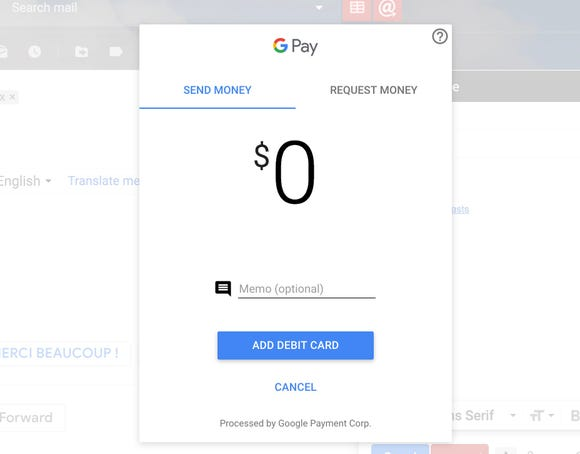 Ask for money in a Gmail