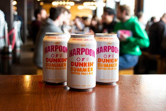 The Harpoon Dunkin' Summer Coffee Pale Ale marks the second collaboration between Dunkin' and Harpoon Brewery.