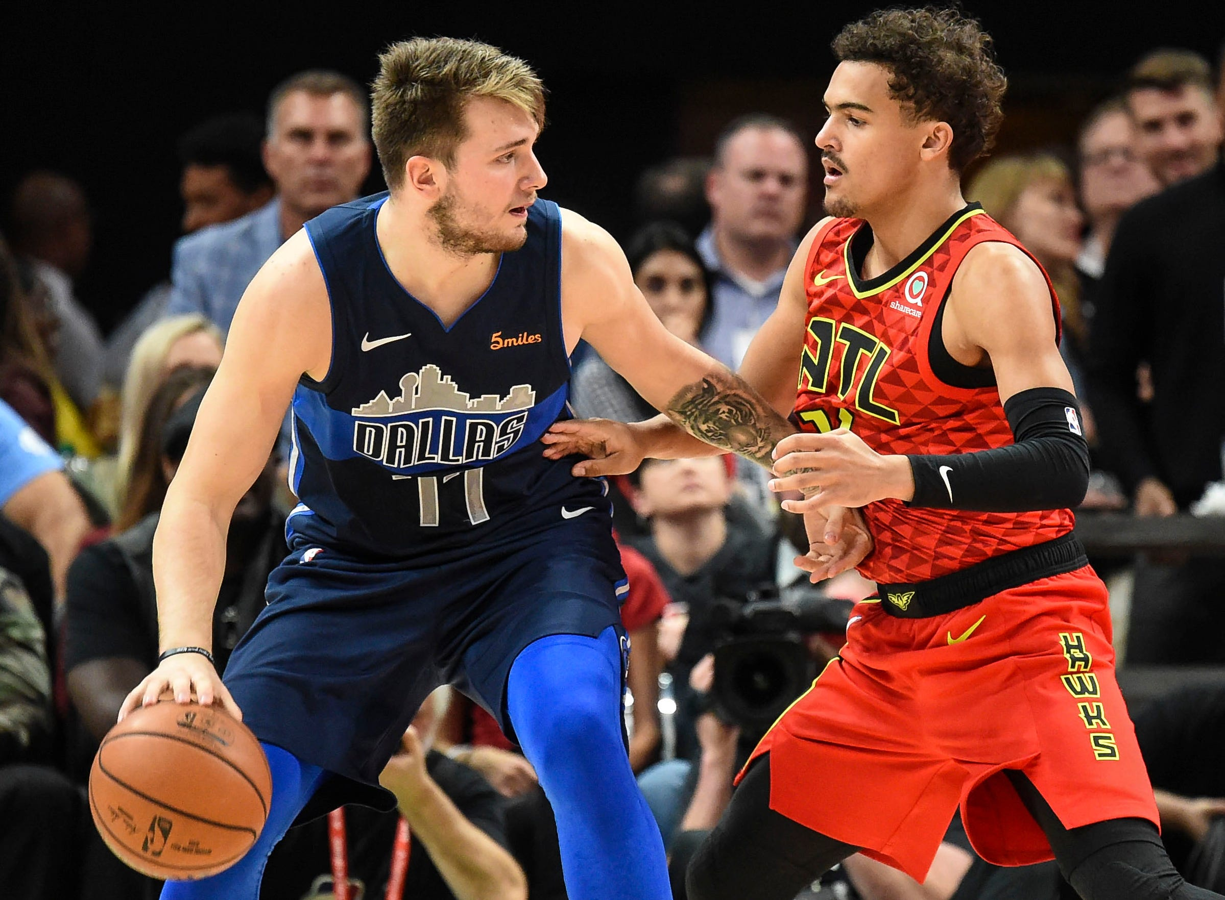 Luka Doncic and Trae Young.