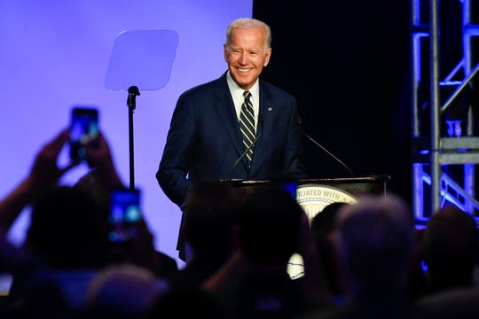 Former Vice President Joe Biden delivers remarks at the International Brotherhood of Electrical Workers Construction and Maintenance Conference at the Washington Hilton in Washington D.C. With Joe Biden making headlines for an apparent inappropriate interaction with Lucy Flores, a photo has resurfaced of Biden with Stephanie Carter.