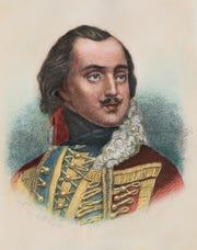 Casimir Pulaski, 1747-1779, a Polish patriot was a hero of the American Revolution.