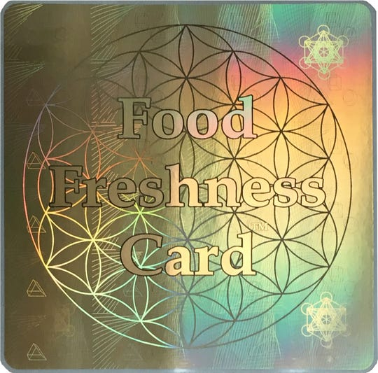 The Food Freshness Card promises to slow down food spoilage.