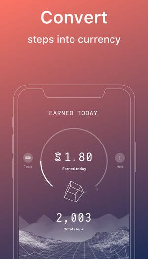 Sweatcoin is a new breed of step counter and activity tracker app that pays you digital currency for being active.
