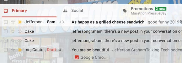 Google separates primary, social and promotions in Gmail