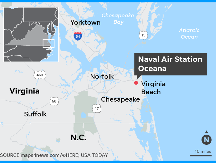 Naval Air Station Oceana 1 Wounded In Shooting In Virginia Beach - Us-navy-bases-worldwide-map