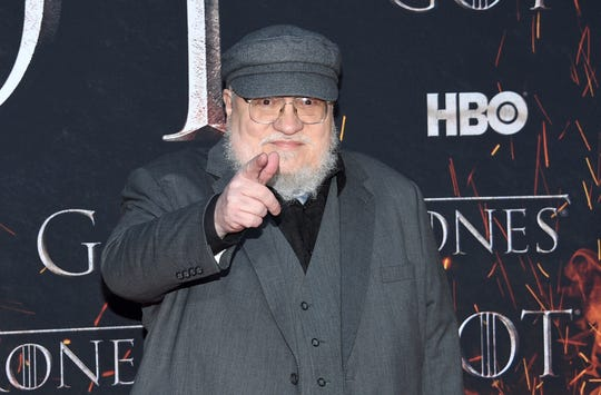 "George R. R. Martin attends HBO's ""Game of Thrones"" final season premiere at Radio City Music Hall on Wednesday, April 3, 2019, in New York. (Photo by Evan Agostini/Invision/AP) ORG XMIT: NYPM152"