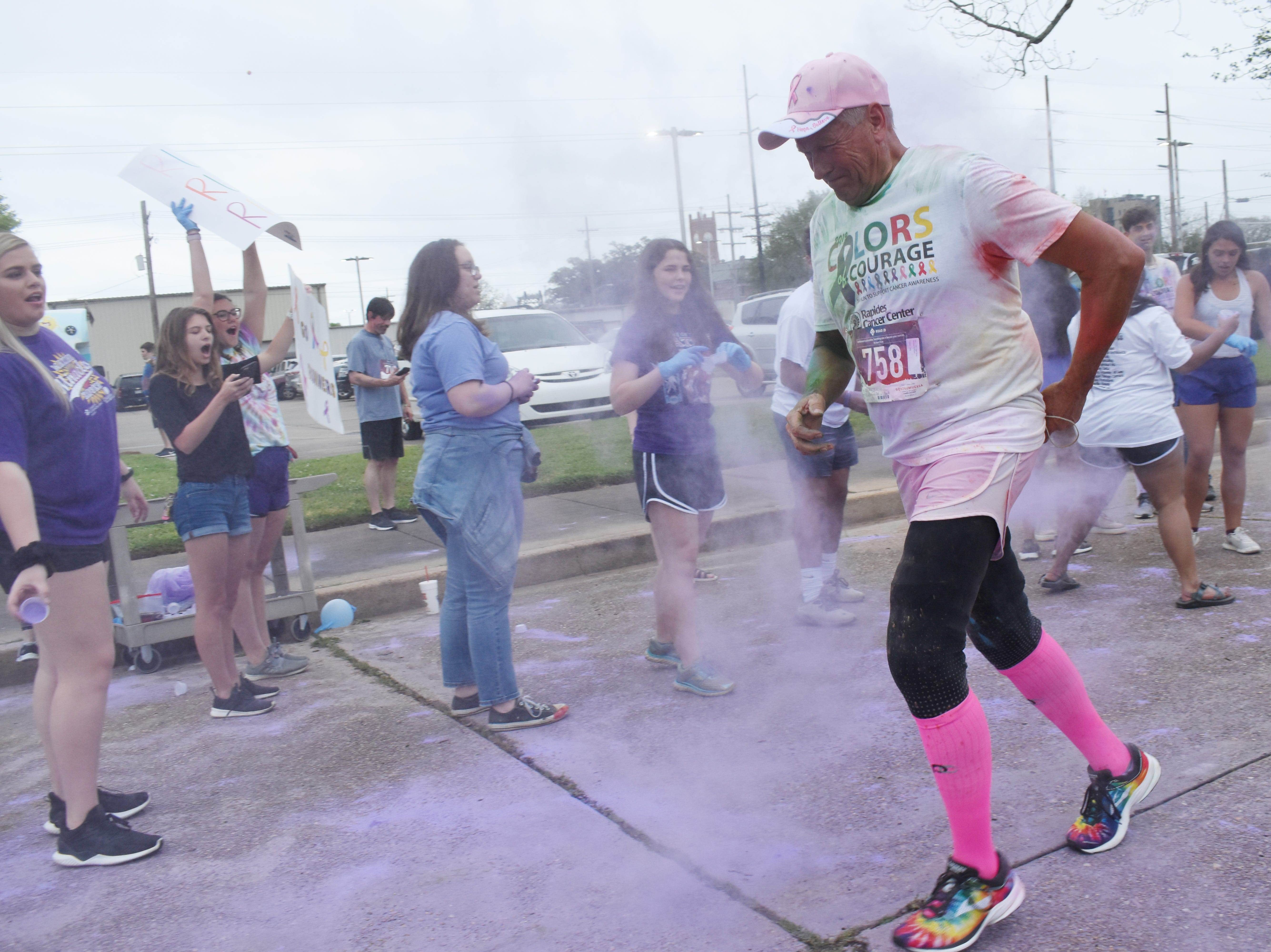 Over 200 walkers and runners participated in the Rapides Cancer Center's 4th annual Colors of Courage 5K and Color Run Friday, April 5, 2019 in downtown Alexandria. Funds raised by Colors of Courage is donated to the American Cancer Society. Over $17,000 has been donated from the last three Colors of Courage 5K and Color Run.