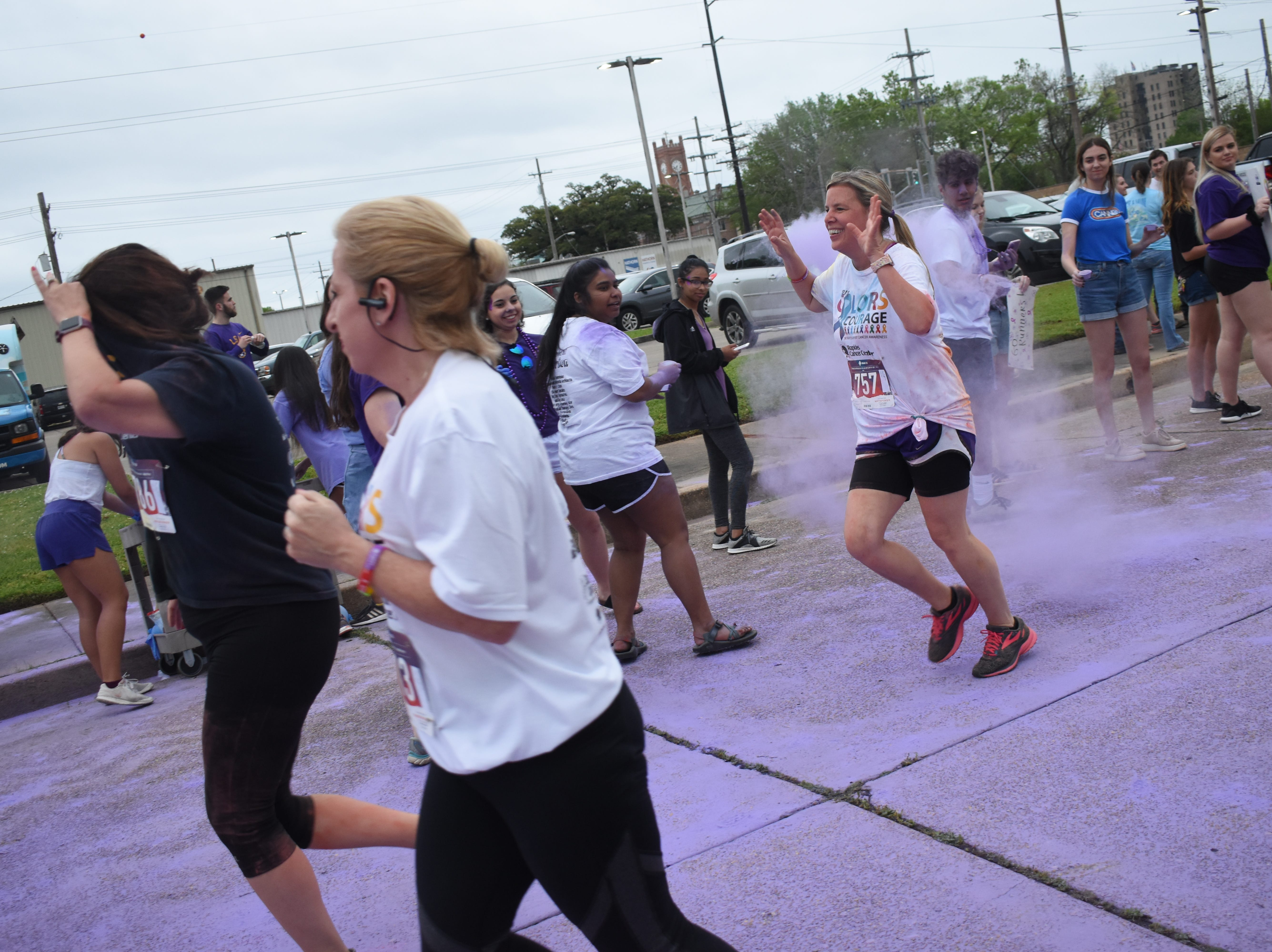 Over 200 walkers and runners participated in the Rapides Cancer CenterÕs 4th annual Colors of Courage 5K and Color Run Friday, April 5, 2019 in downtown Alexandria. Funds raised by Colors of Courage is donated to the American Cancer Society. Over $17,000 has been donated from the last three Colors of Courage 5K and Color Run.
