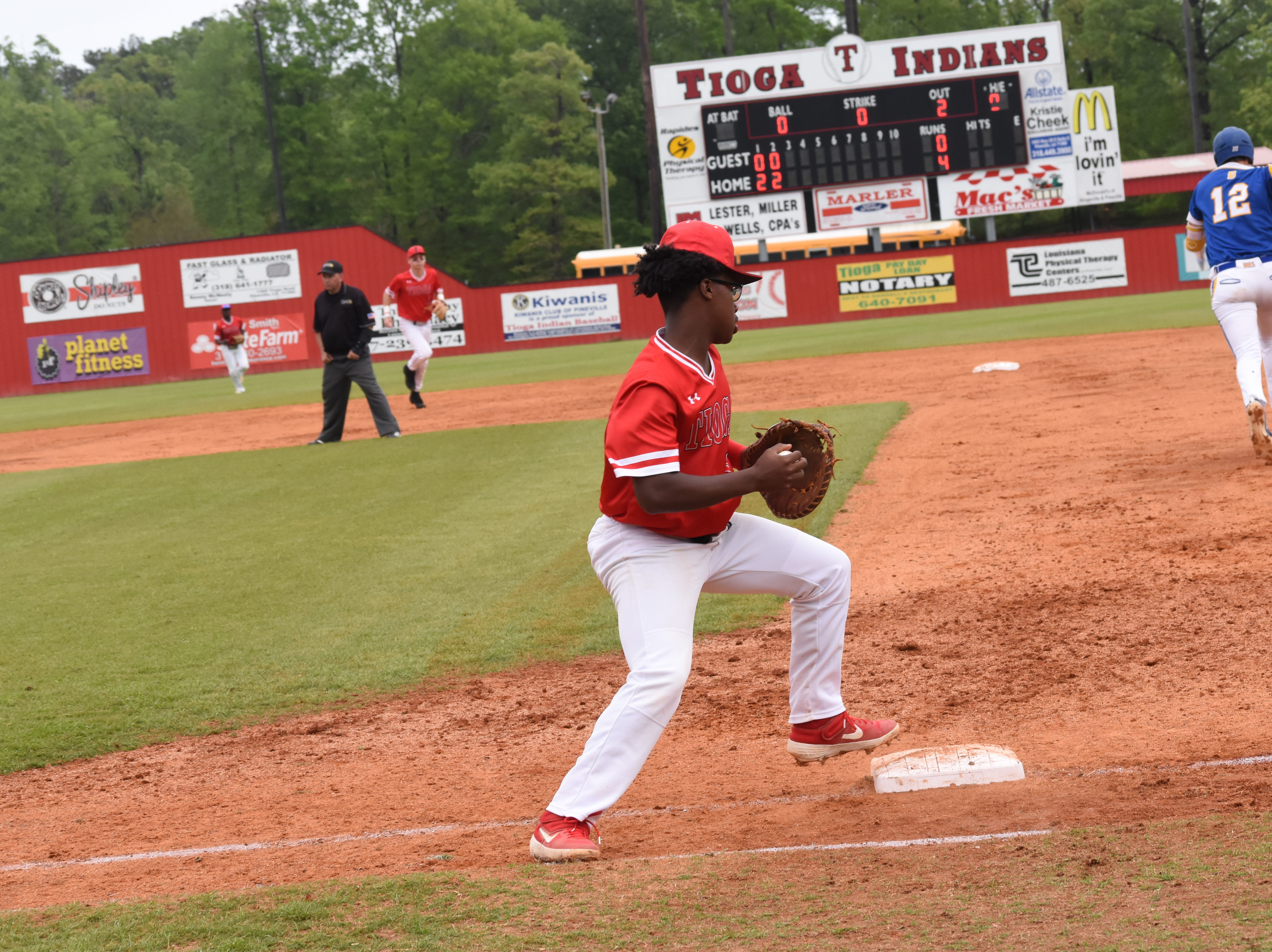 Tioga High School hosted Buckeye High School in double-header Friday, April 5, 2019. Tioga won both games. The first 10-0 and the second 11-1.