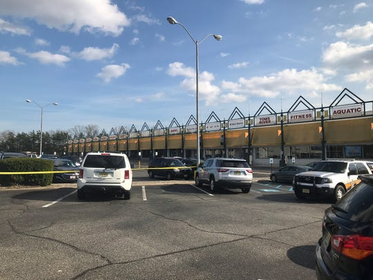 The crime scene Saturday in the aftermath of a stabbing at the Toms River Fitness & Acquatic Center on Route 37 East in Toms River.
