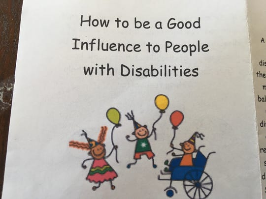 """Cover image of Tim Rohrer's guide, """"How to be a good influence to people with disabilities."""""""