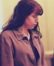 Melissa Drexler during her 1997 arraignment at the Monmouth County Courthouse.
