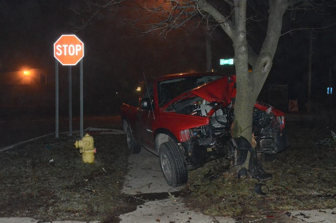No injuries in this crash on Saturday morning.