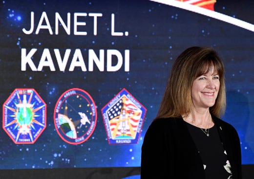 American Astronaut Hall of Fame candidate Janet L. Kavandi will be introduced to the crowd during Saturday's ceremony at the Kennedy Space Center Visitor Complex.