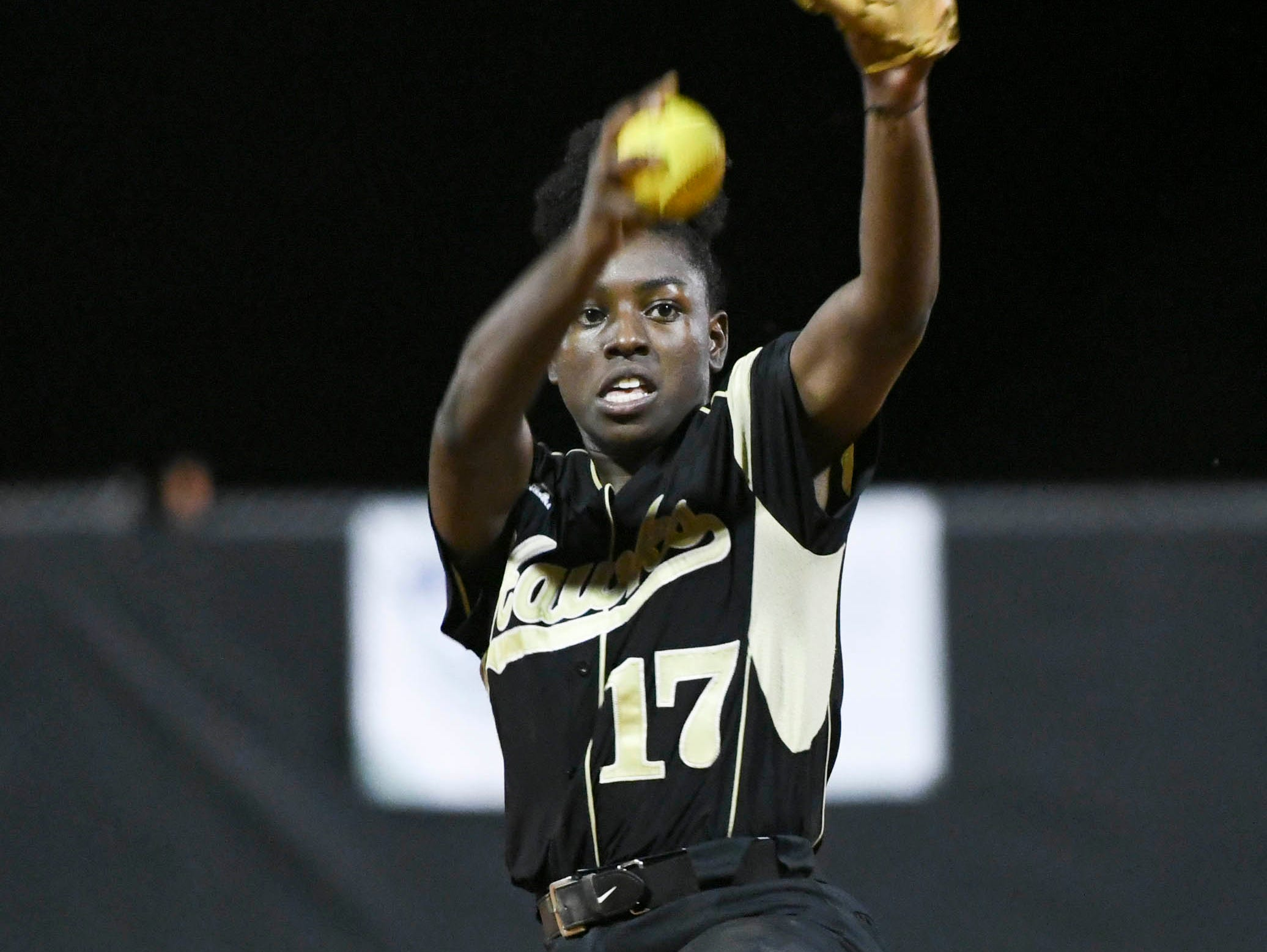 Viera's Karyana Mitchell pitches during Friday's game against Cocoa.