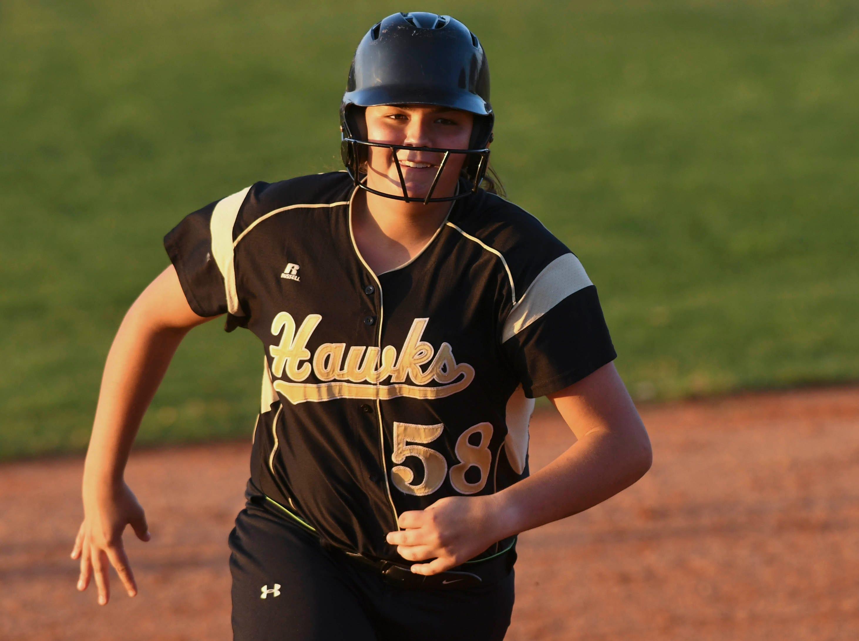 Viera's Morgan Mordas rounds the bases after hitting a home run in Friday's game against Cocoa.