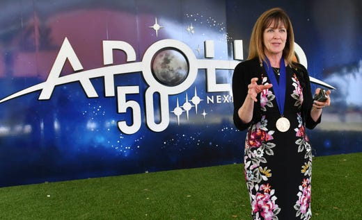 American Astronaut Hall of Famer member Janet L. Kavandi will be interviewed on Saturday after her introduction at the Kennedy Space Center Visitor Complex.