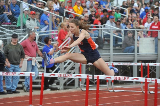 Galion's Kerrigan Myers is the defending D-II state champion in the 100-meter hurdles and will be heading to the University of Nebraska in the fall.