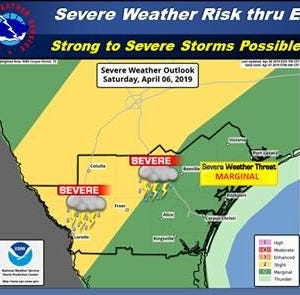 NWS Corpus Christi: Severe thunderstorms to hit South Texas early Sunday morning