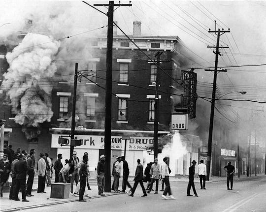 Tensions flared up in Avondale after a peaceful memorial service for Rev. Martin Luther King Jr. on April 8, 1968.