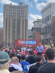 U.S. Rep. Tim Ryan kicks off his 2020 presidential campaign in Youngstown, Ohio, April 6, 2019.