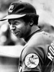 Frank Robinson became major league baseball's first black manager when he was made player/manager of the Cleveland Indians in 1975.