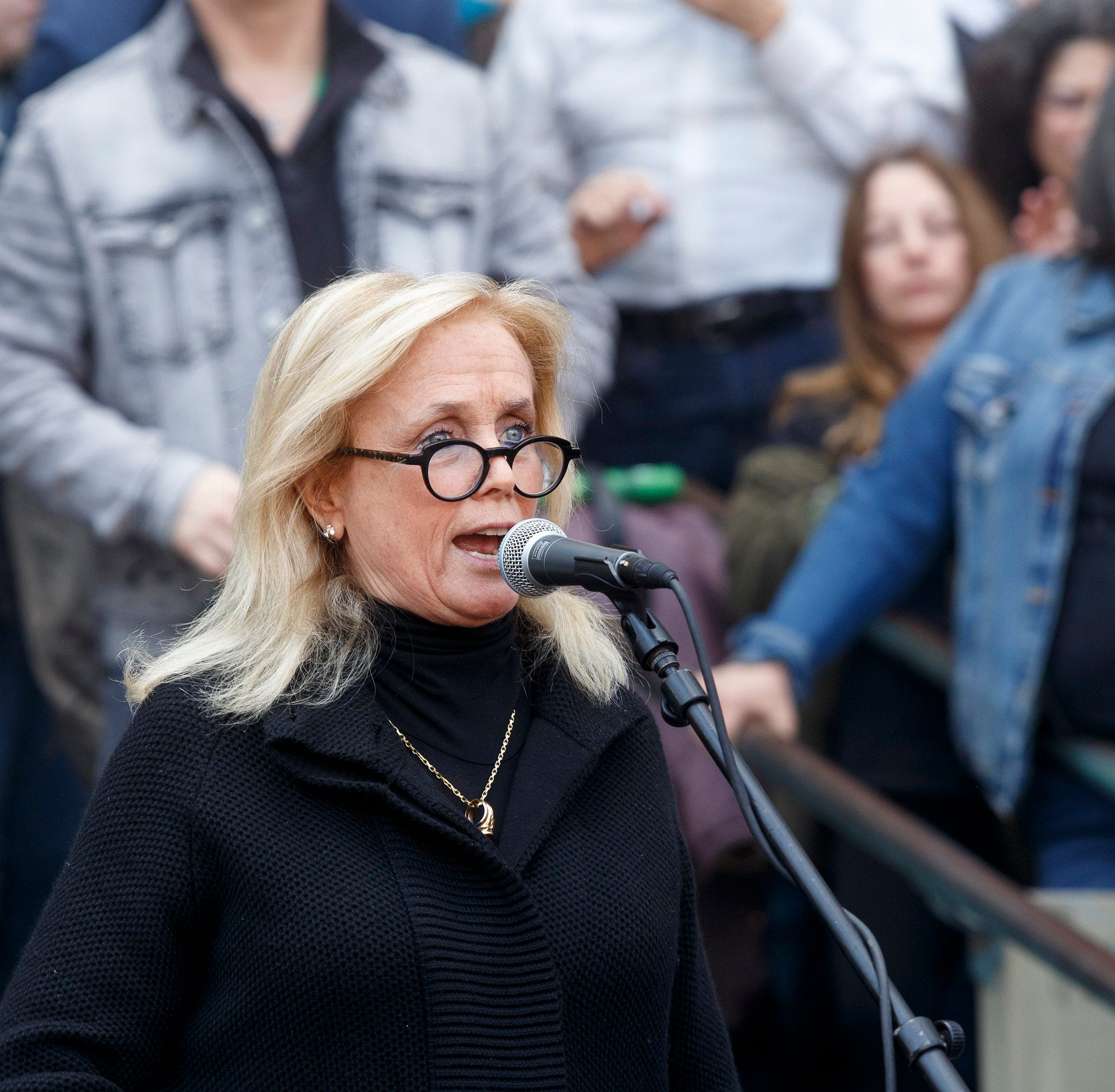 Debbie Dingell speaks at Hash Bash 2019, first since recreational marijuana legalized