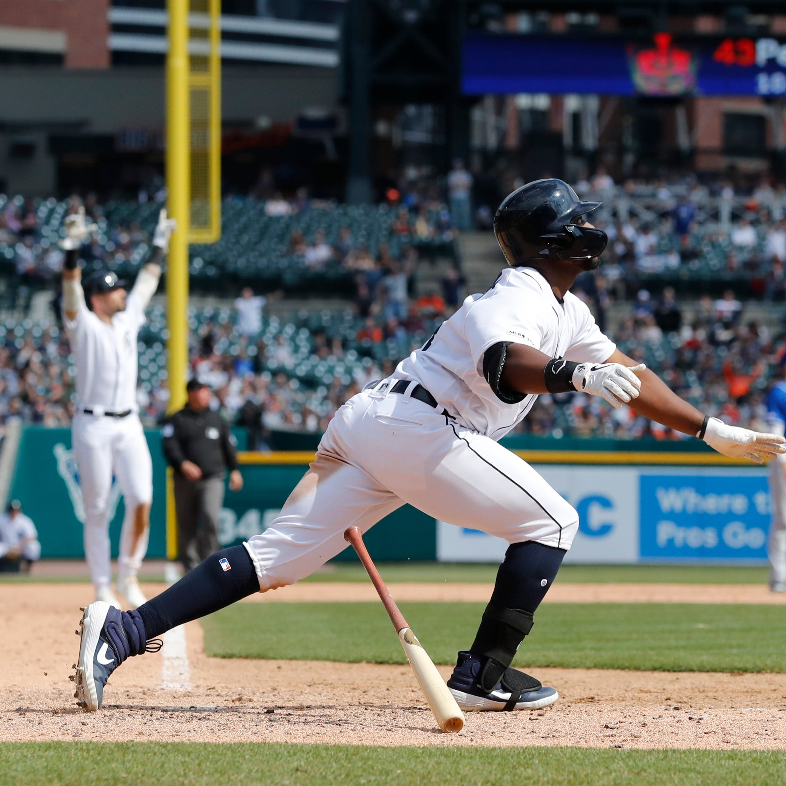 Christin Stewart's grand slam leads Detroit Tigers to 4th straight win