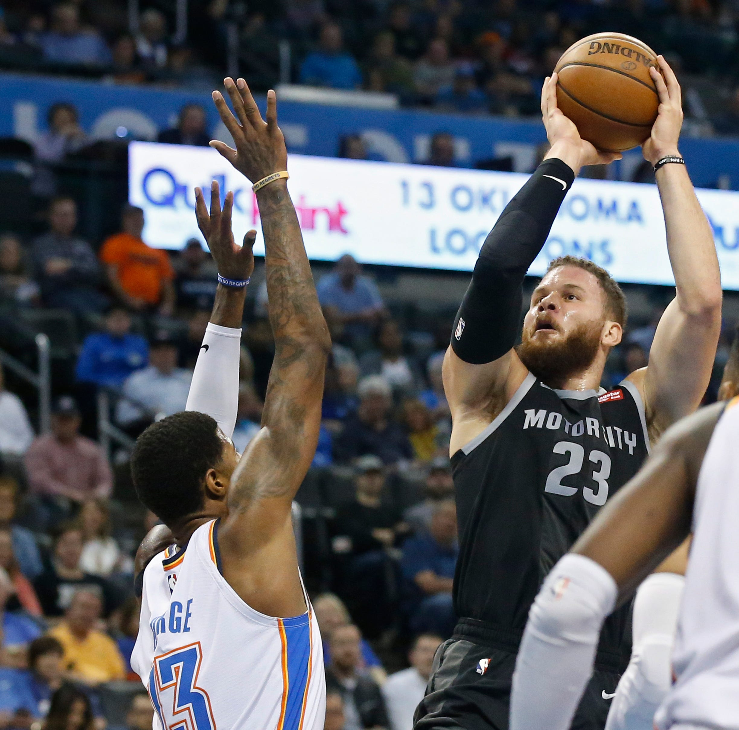 Griffin's record night can't slam brakes on skid, Pistons slip to 8th in East