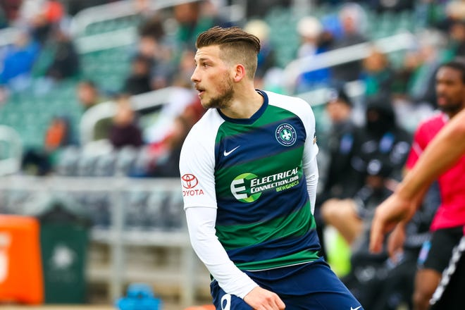 Forward Russell Cicerone has started three of four matches for Saint Louis FC where he has one goal.